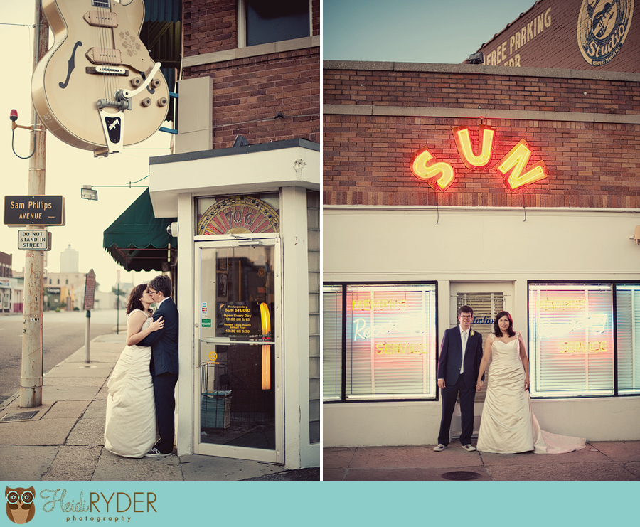 Memphis Wedding Photography at Sun Studio