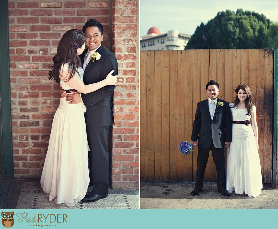Old Town Pasadena Wedding Portraits