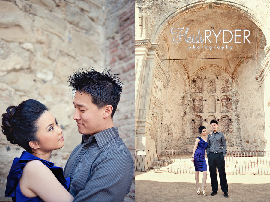 Mission San Juan Capistrano Engagement photos