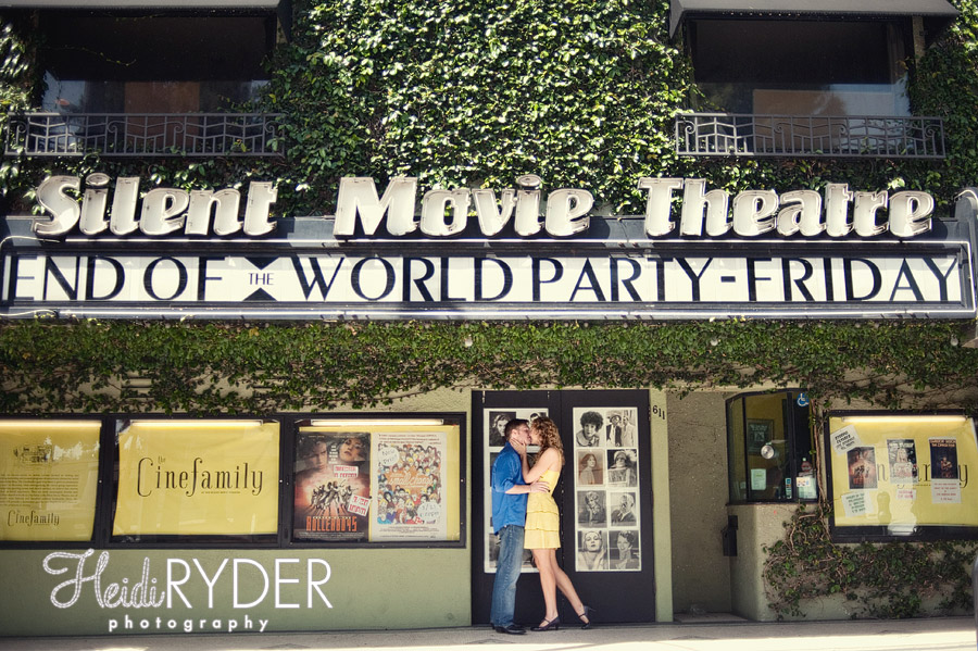 Los Angeles Silent Movie Theater Engagement photos