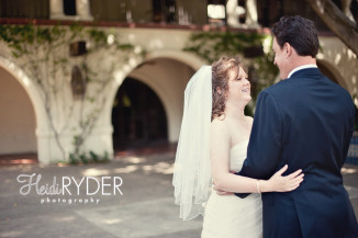 LA River Center Wedding First Look