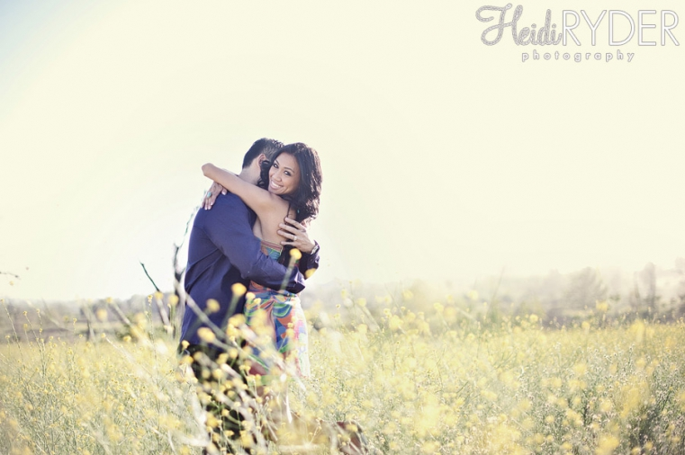 Mustard flowers engagement photos