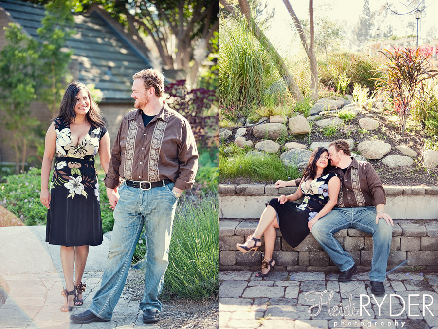 engaged couple in Beverly Hills