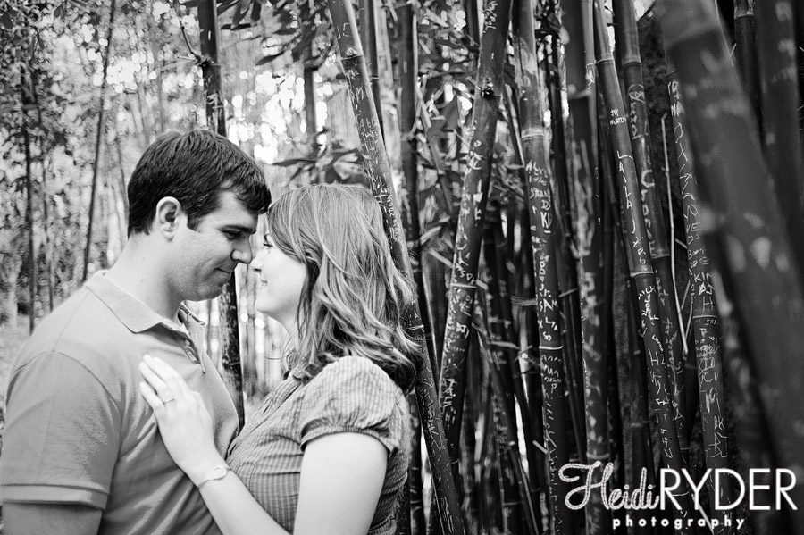 Couple next to bamboo at San Diego Zoo