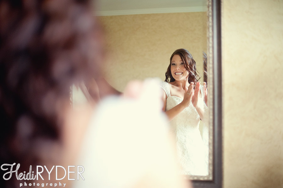 excited bride on her wedding day