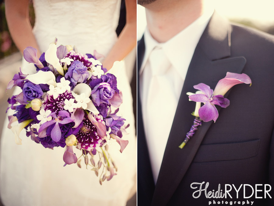 bridal bouquet and groom boutonniere