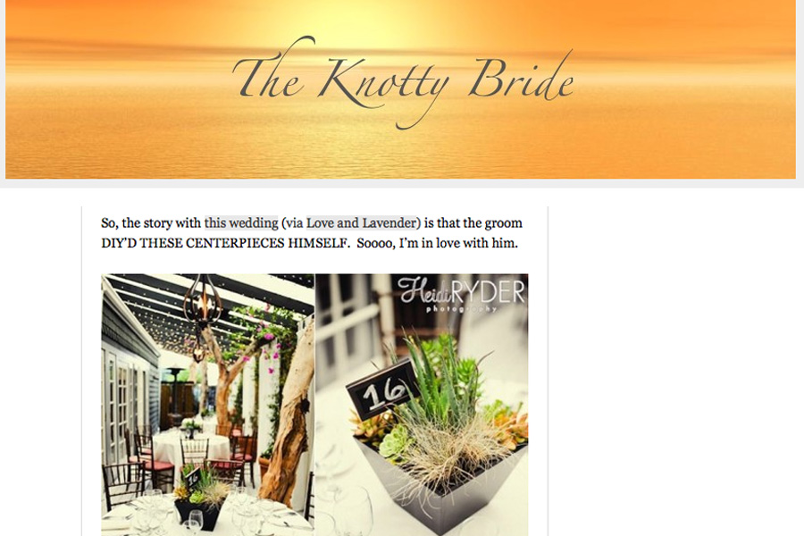 The Knotty Bride feature