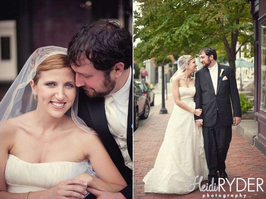 bride and groom on rhode island streets