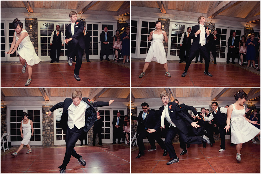 bride and groom first hip-hop dance