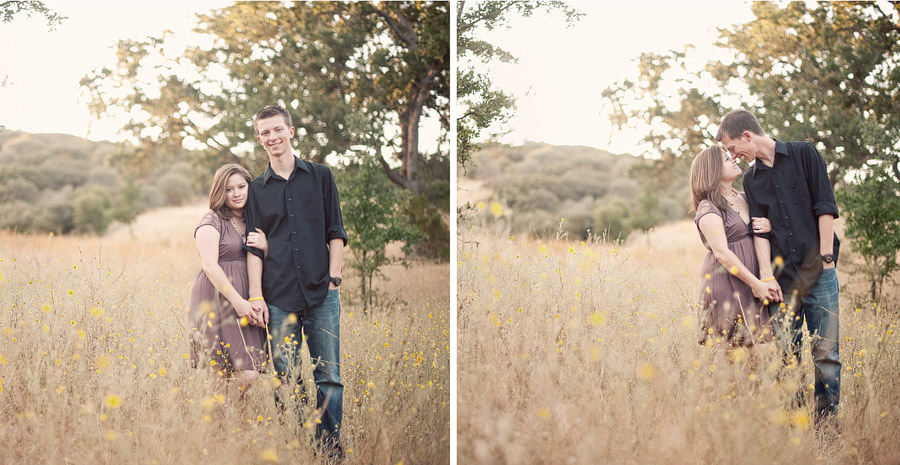 malibu hills engagement photo