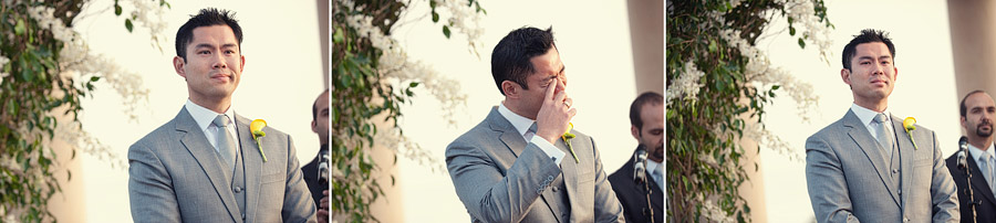 groom weeping at ceremony