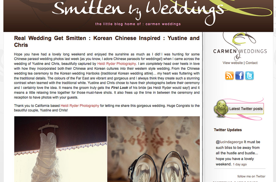 Smitten by Weddings feature