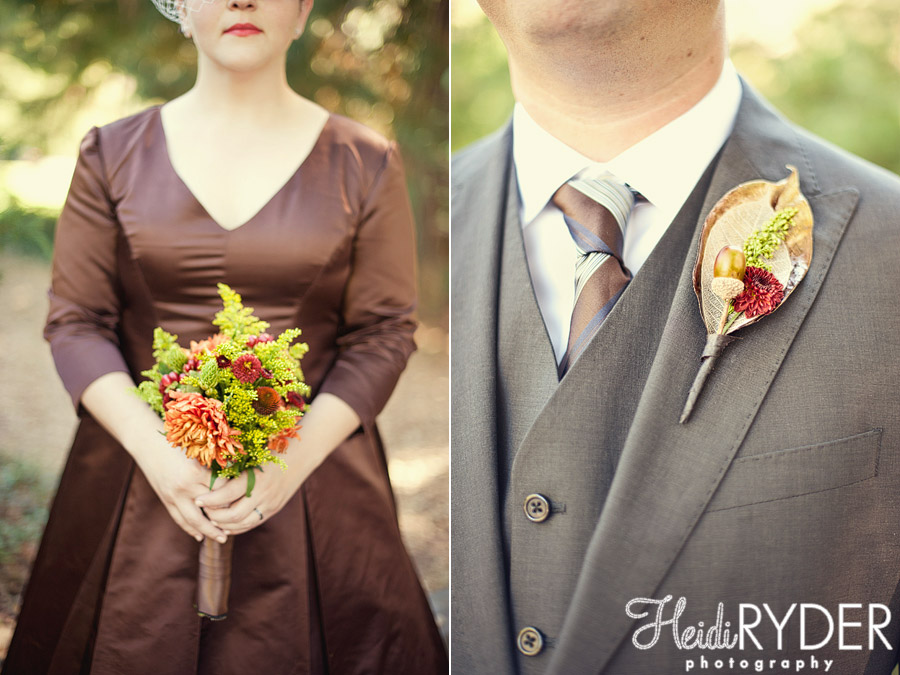fall colors wedding flowers