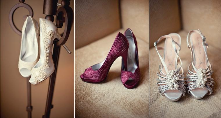 three types of wedding shoes
