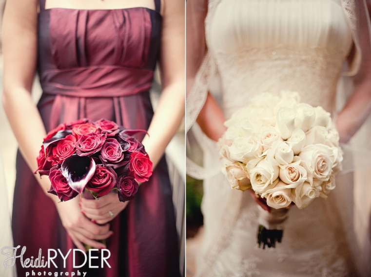 deep red wedding flowers