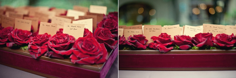 rose escort card holder