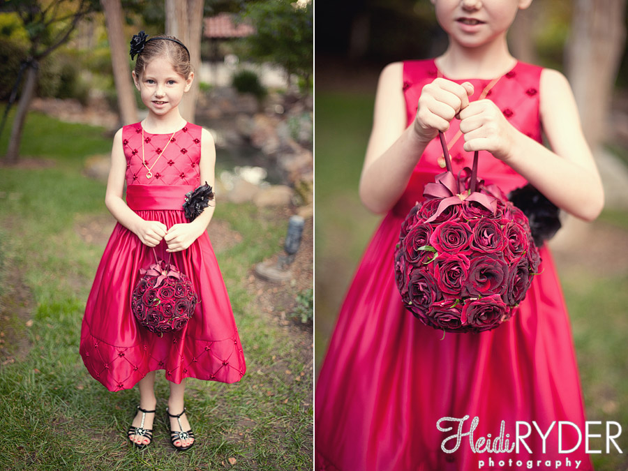 red flowergirl flower ball