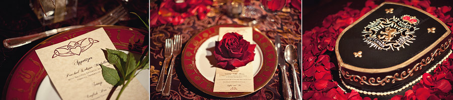 deep red wedding details