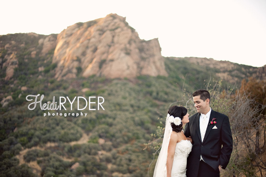 malibu hills wedding photos