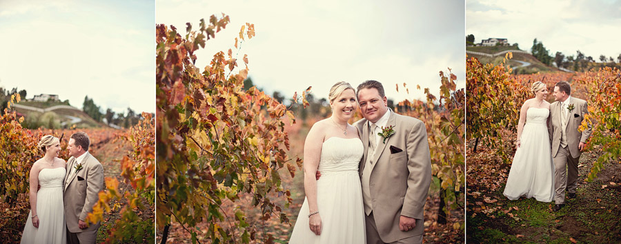fall vineyard wedding photos