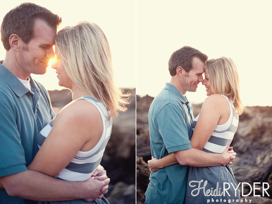 southern california beach engagement