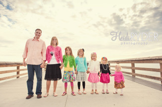 beach pier family photos