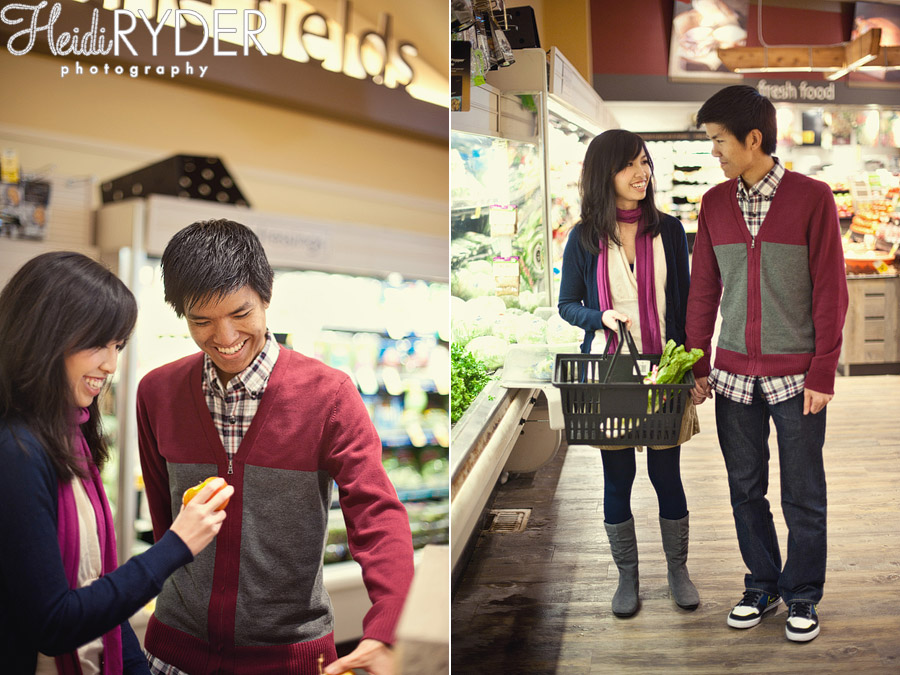 supermarket engagement session