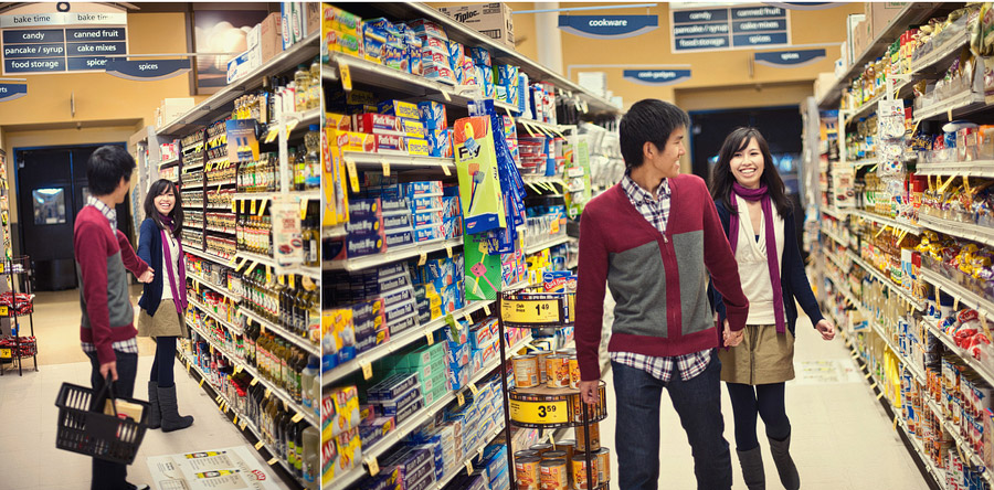 grocery shopping engagement session