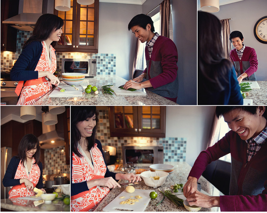 cute couple making a meal