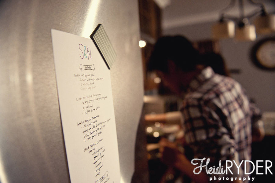 dinner menu on fridge