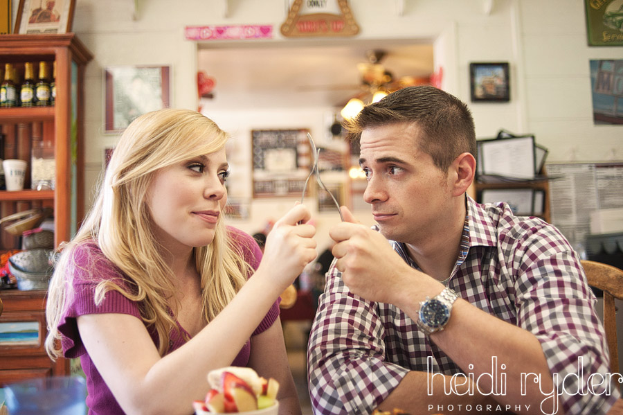 restaurant engagement photos