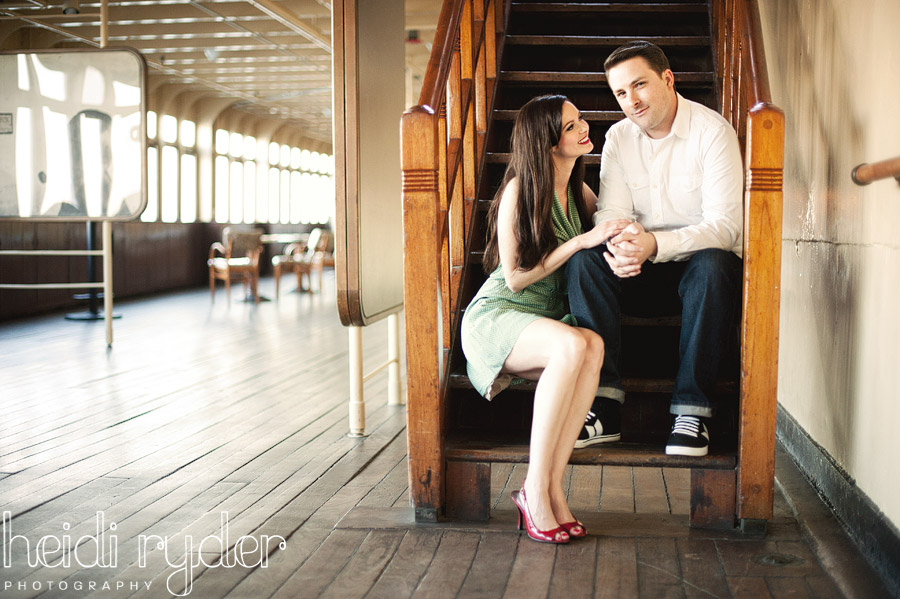 1940s inspired engagement photos