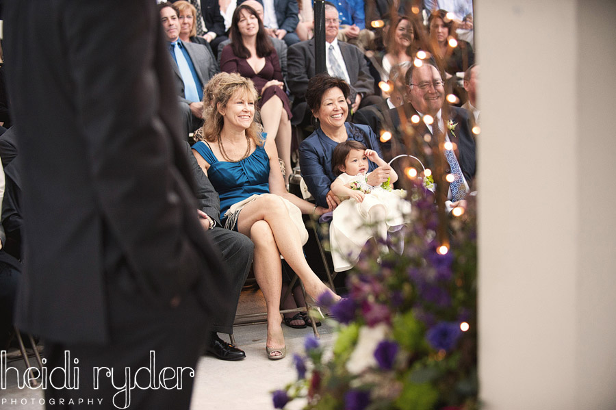 mothers watching wedding ceremony