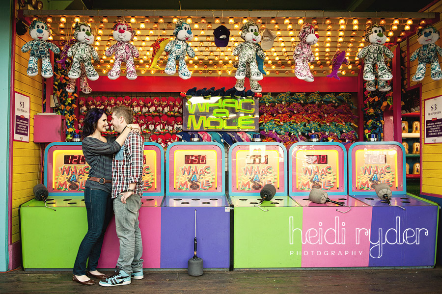 colorful arcade engagement session