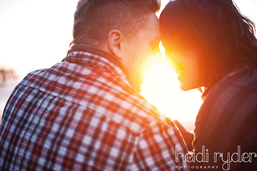 sun flare engagement session