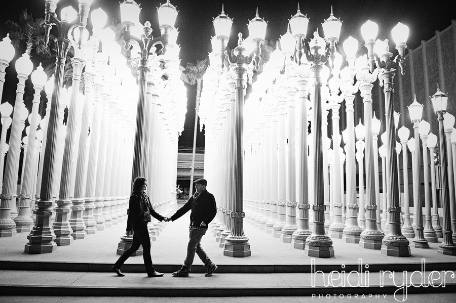 light posts engagement photos