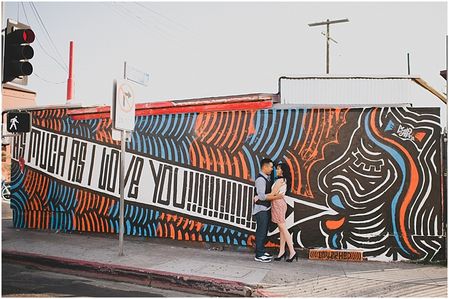 silverlake graffiti engagement photos