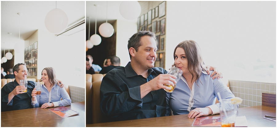 hollywood diner engagement photo