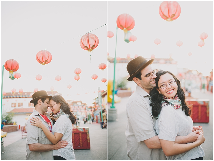 los angeles chinatown engagement