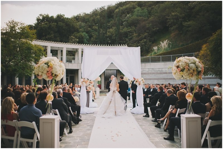 skirball center wedding photo
