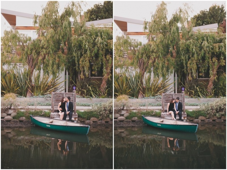 venice canal engagement photography