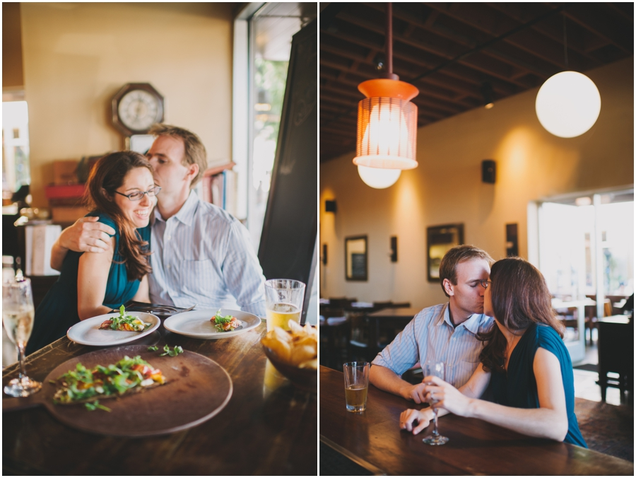 foodie restaurant engagement photos
