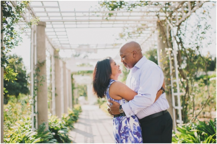 huntington library garden engagement