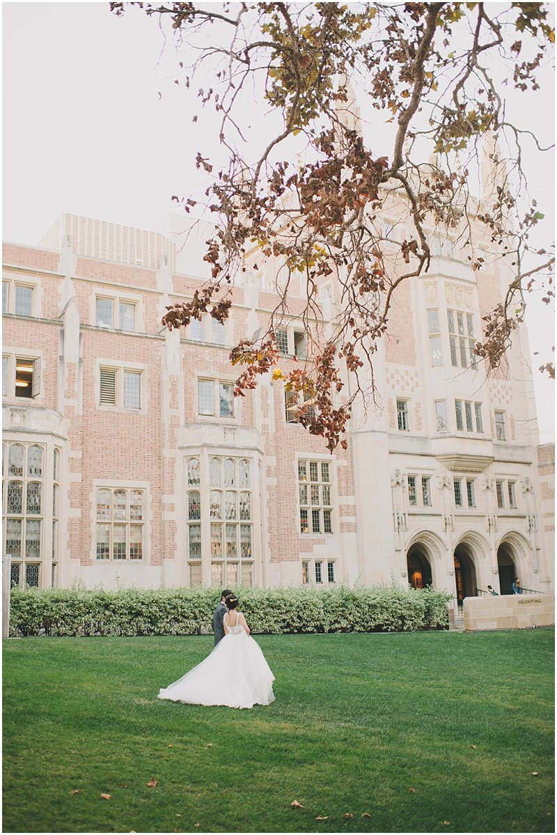 ucla campus wedding photo