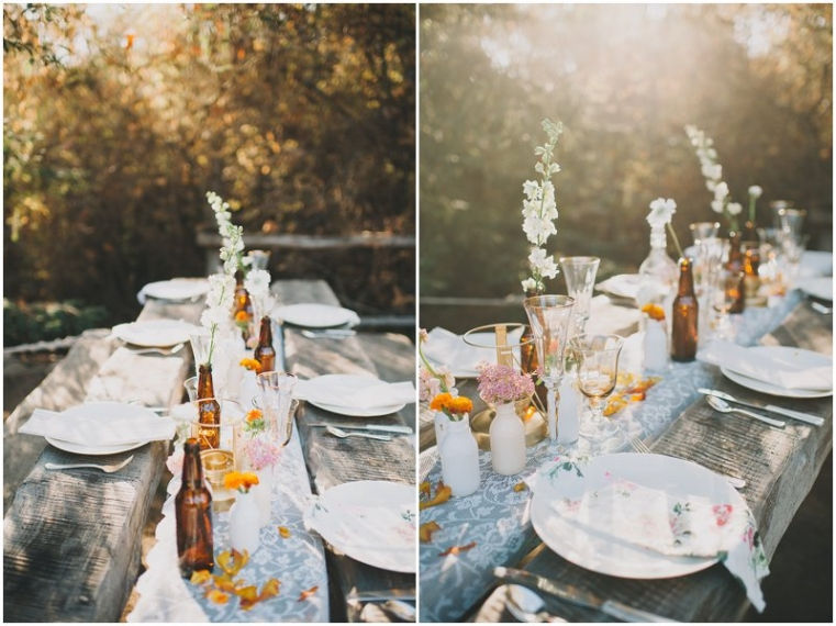 california glamping wedding photo