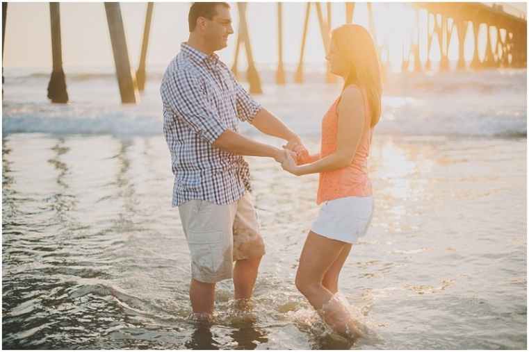 hermosa pier engagement photos