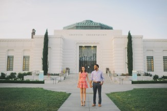 LA Observatory engagement photo