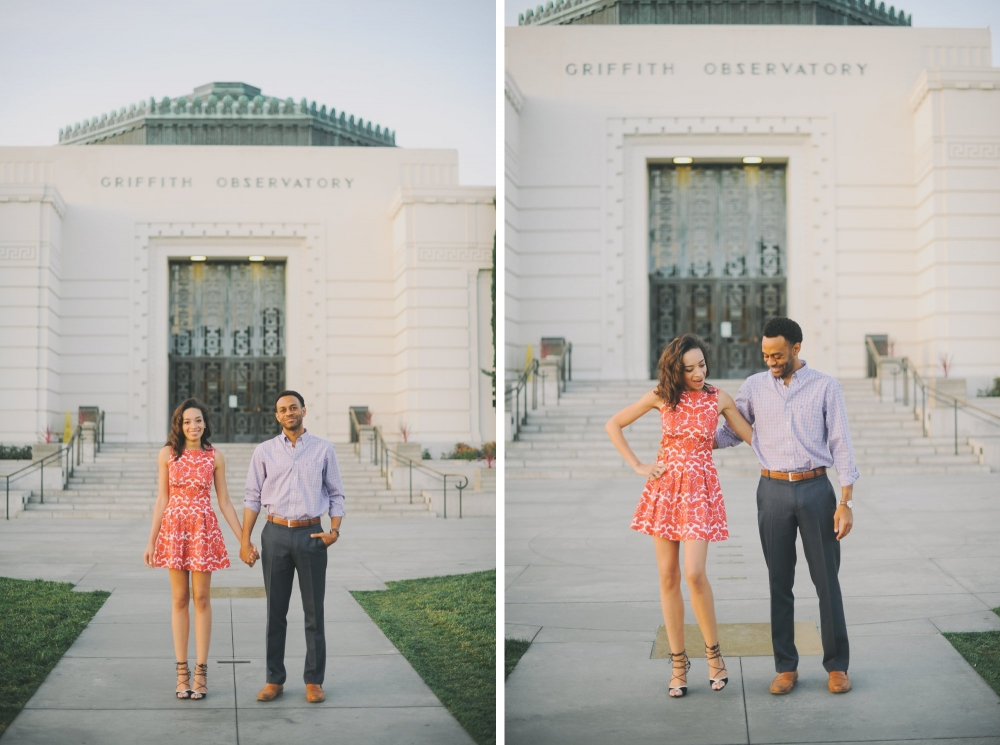griffith park observatory engagement