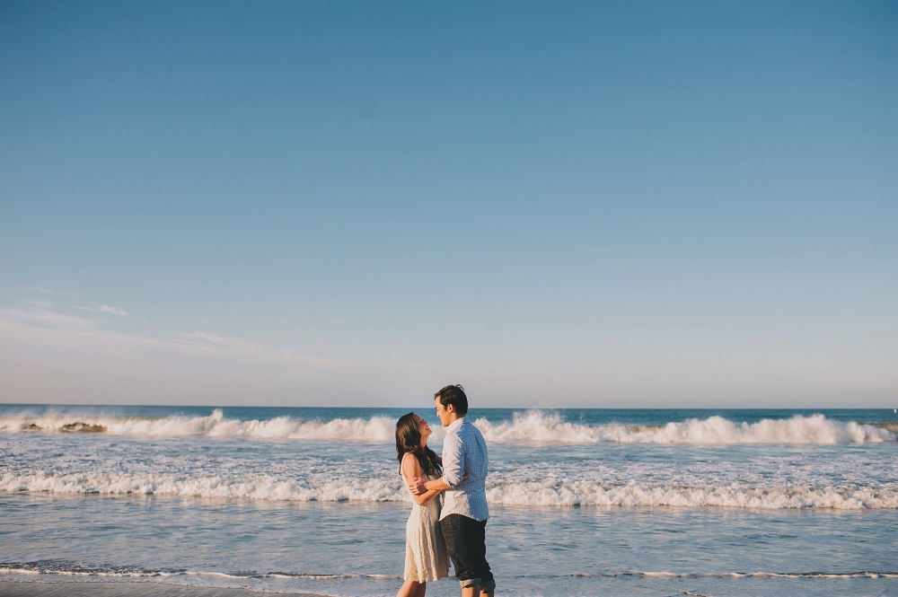Santa Monica Beach Engagement photo