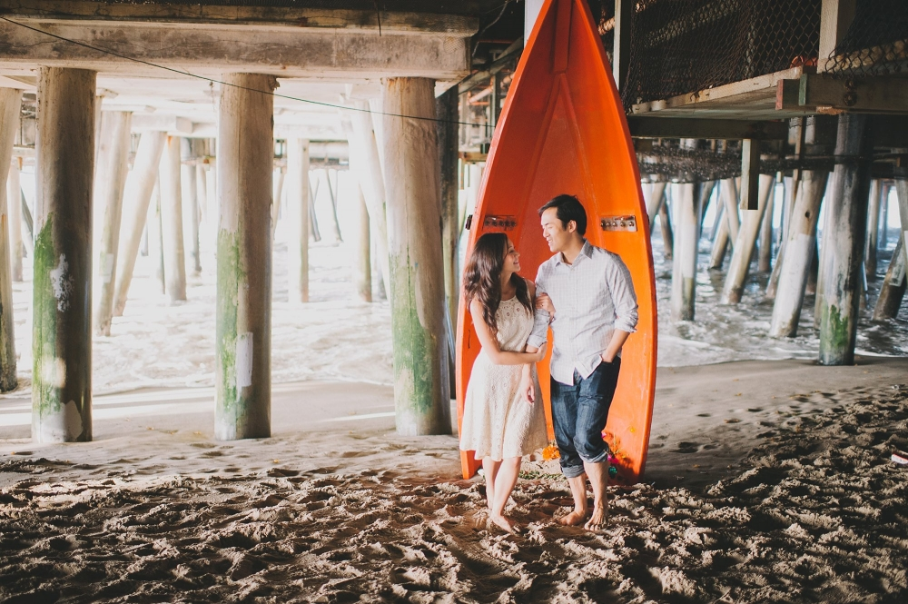 Santa Monica Pier Engagement photo